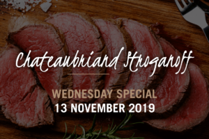 Wednesday Special | Chateau Briand Stroganoff