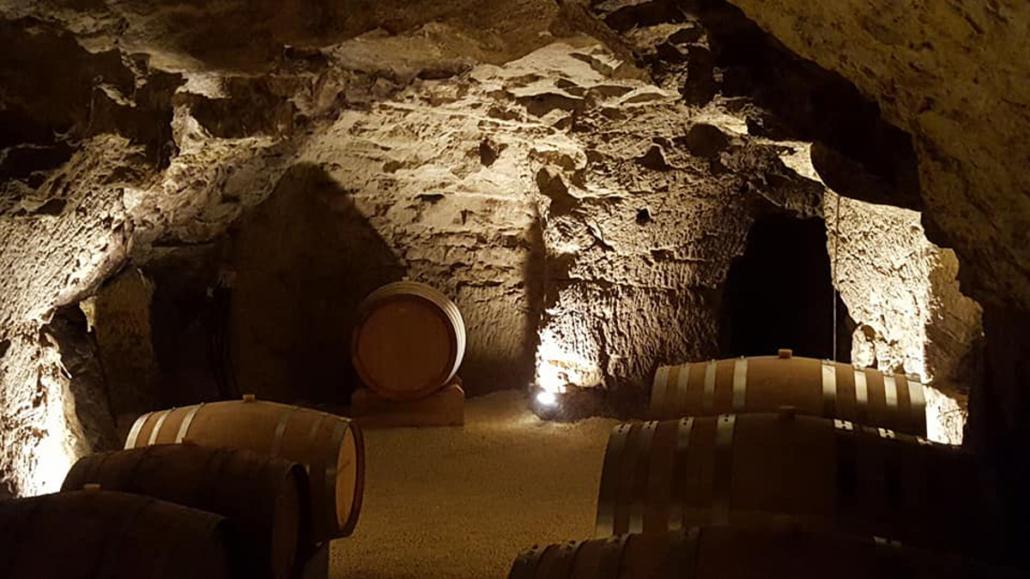De wijnkelder waar de Cabernet Franc wordt gemaakt!